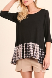 Umgee USA Black Sleeve Tunic Top - Front cropped