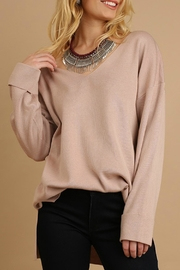 Umgee USA V Neck Light Sweater - Product Mini Image