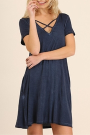 Umgee USA V Neck Swing Dress - Product Mini Image