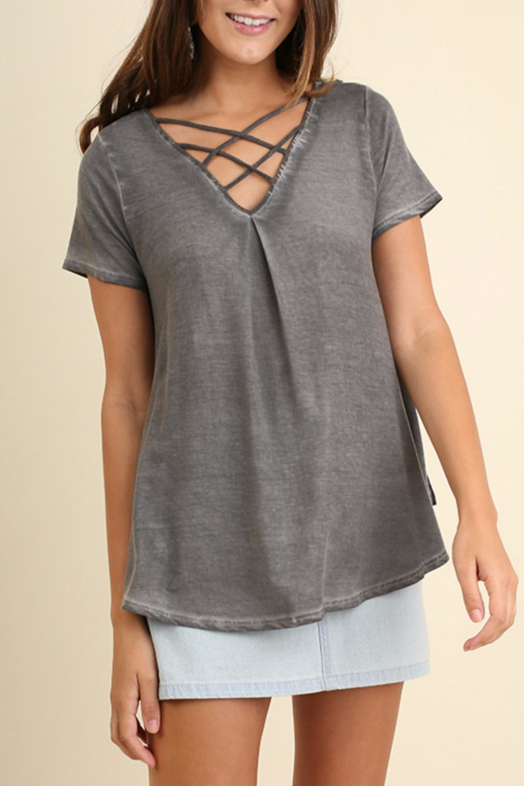 Umgee USA V Neck Top - Front Cropped Image