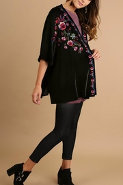 Umgee USA Velvet Embroidered Kimono - Front full body