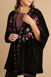 Umgee USA Velvet Embroidered Kimono - Product Mini Image