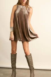 Umgee USA Velvet Mini Dress - Product Mini Image