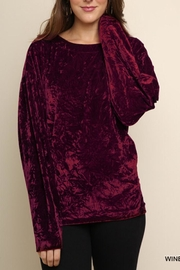 Umgee USA Crushed Velvet Top - Front cropped