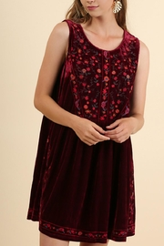 Umgee USA Velvet Sleeveless Dress - Product Mini Image