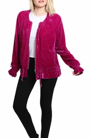 Umgee USA Velvet Zip-Up Jacket - Product Mini Image