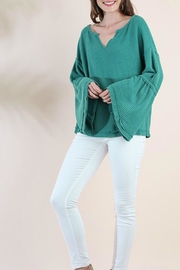 Umgee USA Waffle Knit Bell-Sleeve - Product Mini Image