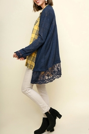 Umgee USA Waffle-Knit Open-Front Cardigan - Front full body