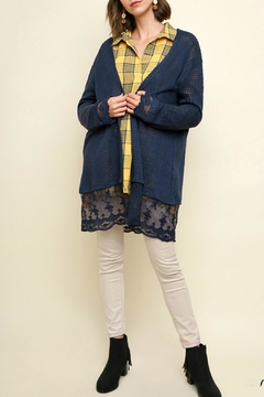 Shoptiques Product: Waffle-Knit Open-Front Cardigan