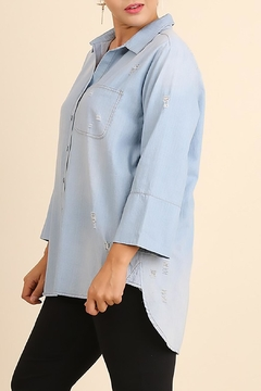 Umgee USA Washed Chambray Top - Alternate List Image