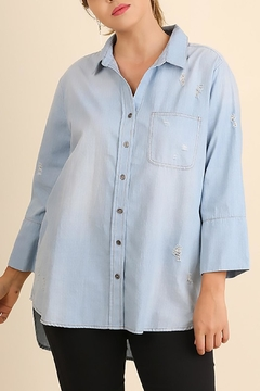 Umgee USA Washed Chambray Top - Product List Image
