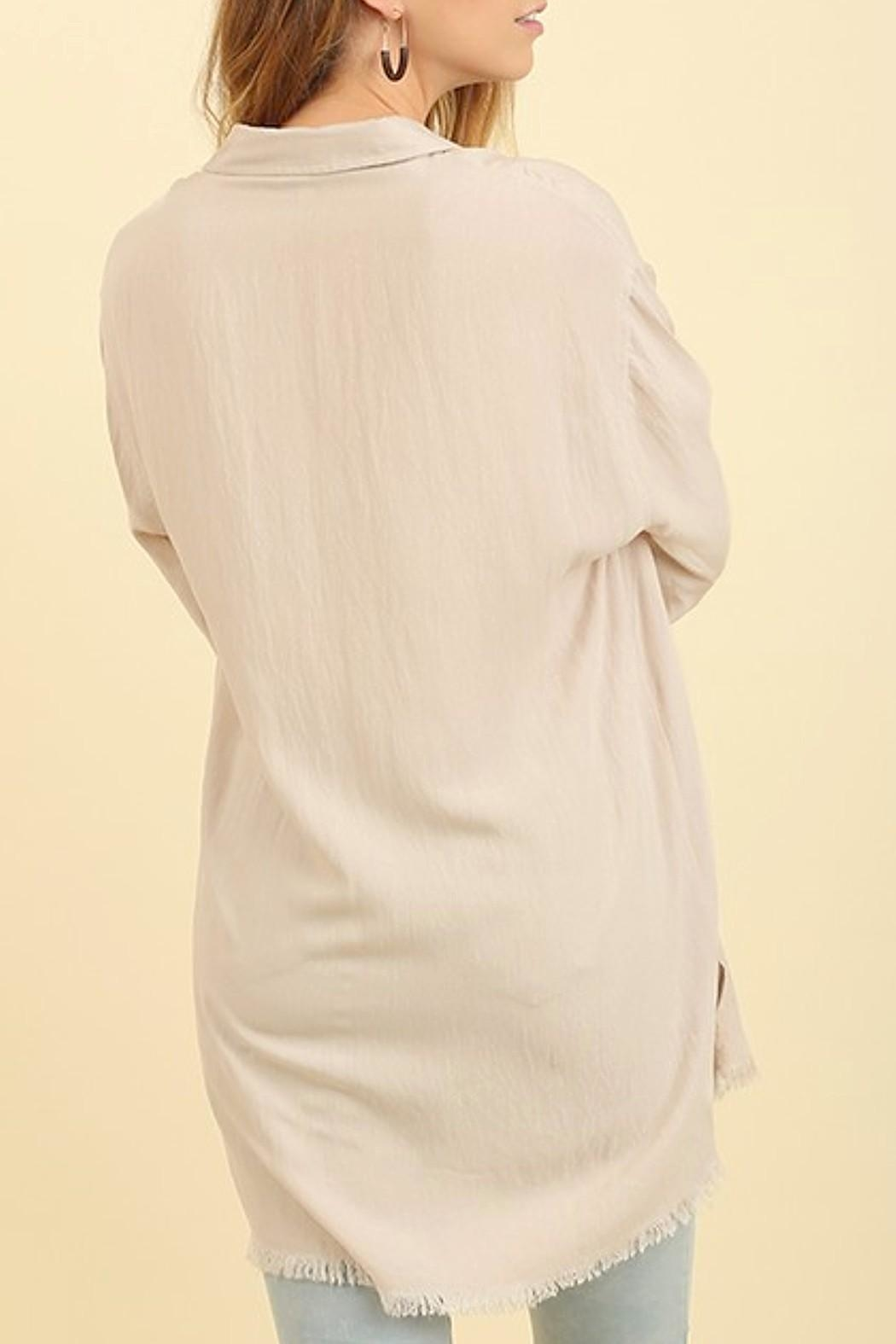 Umgee USA Washed Collared Top - Side Cropped Image