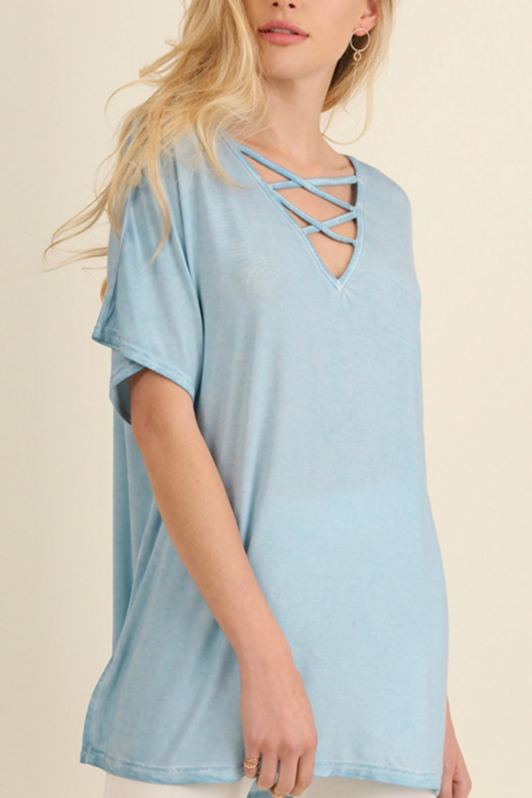 Umgee USA Washed Crisscross Top - Main Image