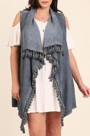 Umgee USA Washed Draped Vest - Product Mini Image