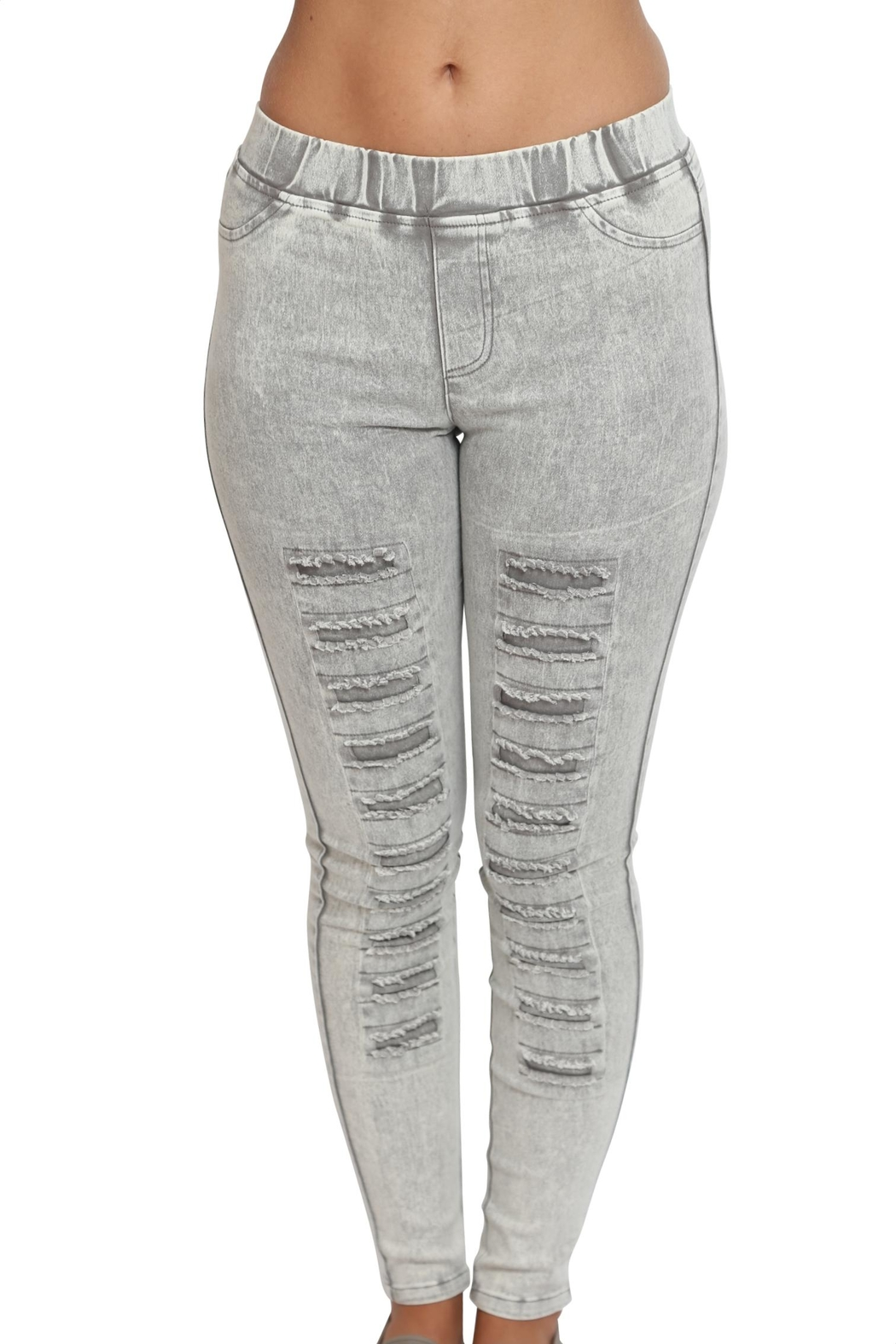 Umgee USA Washed Ripped Pants - Front Cropped Image