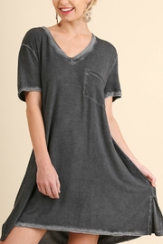 Umgee USA Washed V Neck Tee - Front cropped