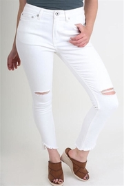 Umgee USA White Distressed Pants - Product Mini Image