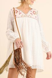 Umgee USA White Embroidered Dress - Product Mini Image