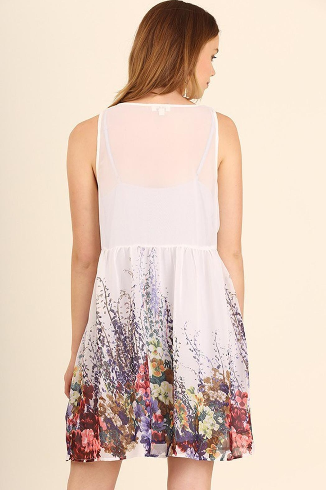 Umgee USA White Floral Dress - Front Full Image
