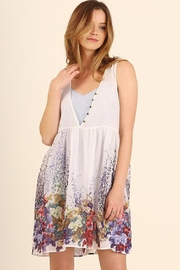 Umgee USA White Floral Dress - Front cropped