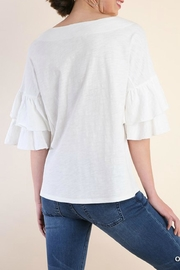 Umgee USA White Ribbon Tie-Tee - Front full body