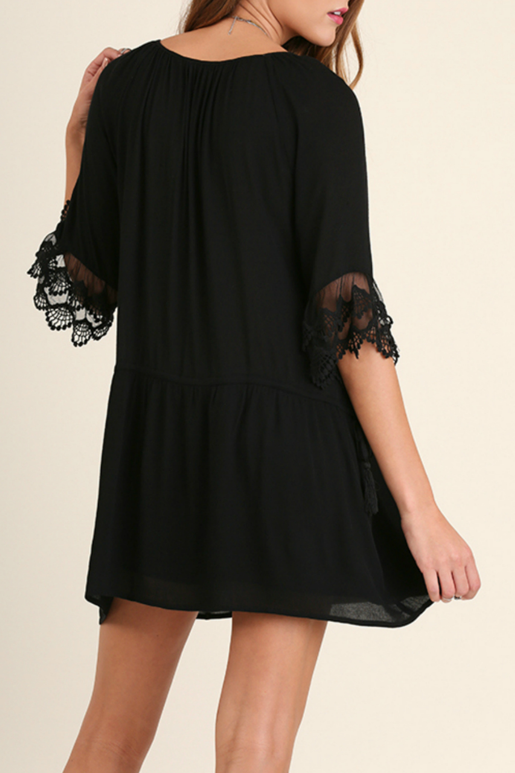 Umgee USA Lady Jane Dress - Back Cropped Image
