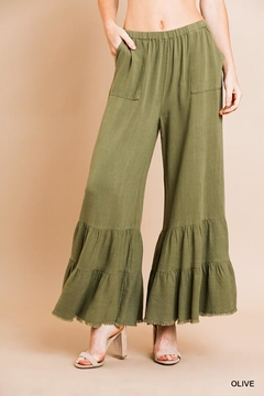 Shoptiques Product: Wide Ruffle Pants