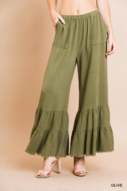 Umgee USA Wide Ruffle Pants - Product Mini Image