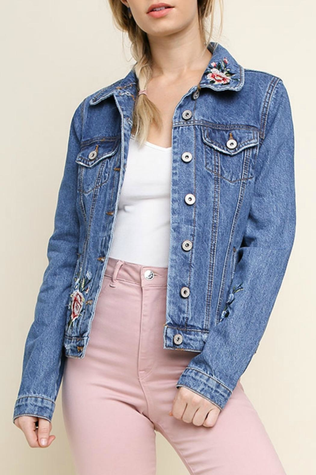 Umgee USA Willow Jean Jacket - Front Cropped Image