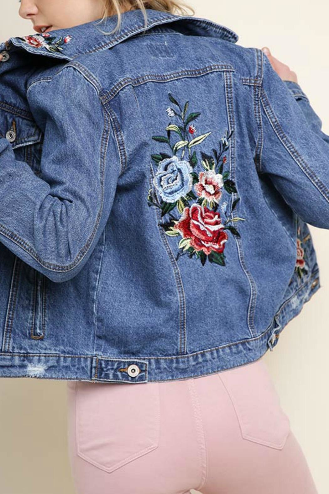 Umgee USA Willow Jean Jacket - Side Cropped Image