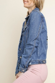 Umgee USA Willow Jean Jacket - Back cropped