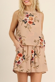 Umgee USA Floral Beige Romper - Product Mini Image