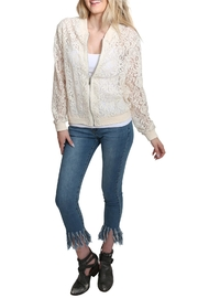 Umgee USA Zip Up Lace Bomber Jacket - Front full body