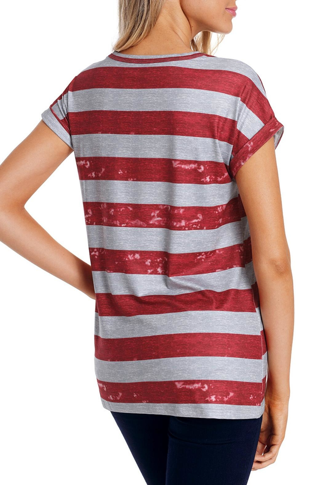 Unbranded American Flag Tee - Back Cropped Image