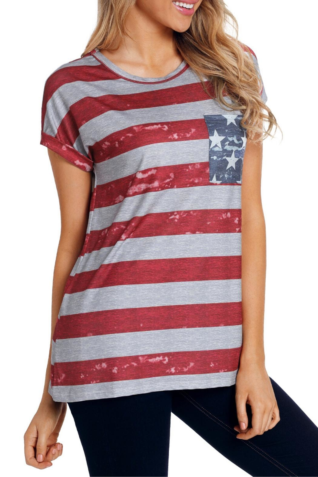Unbranded American Flag Tee - Side Cropped Image