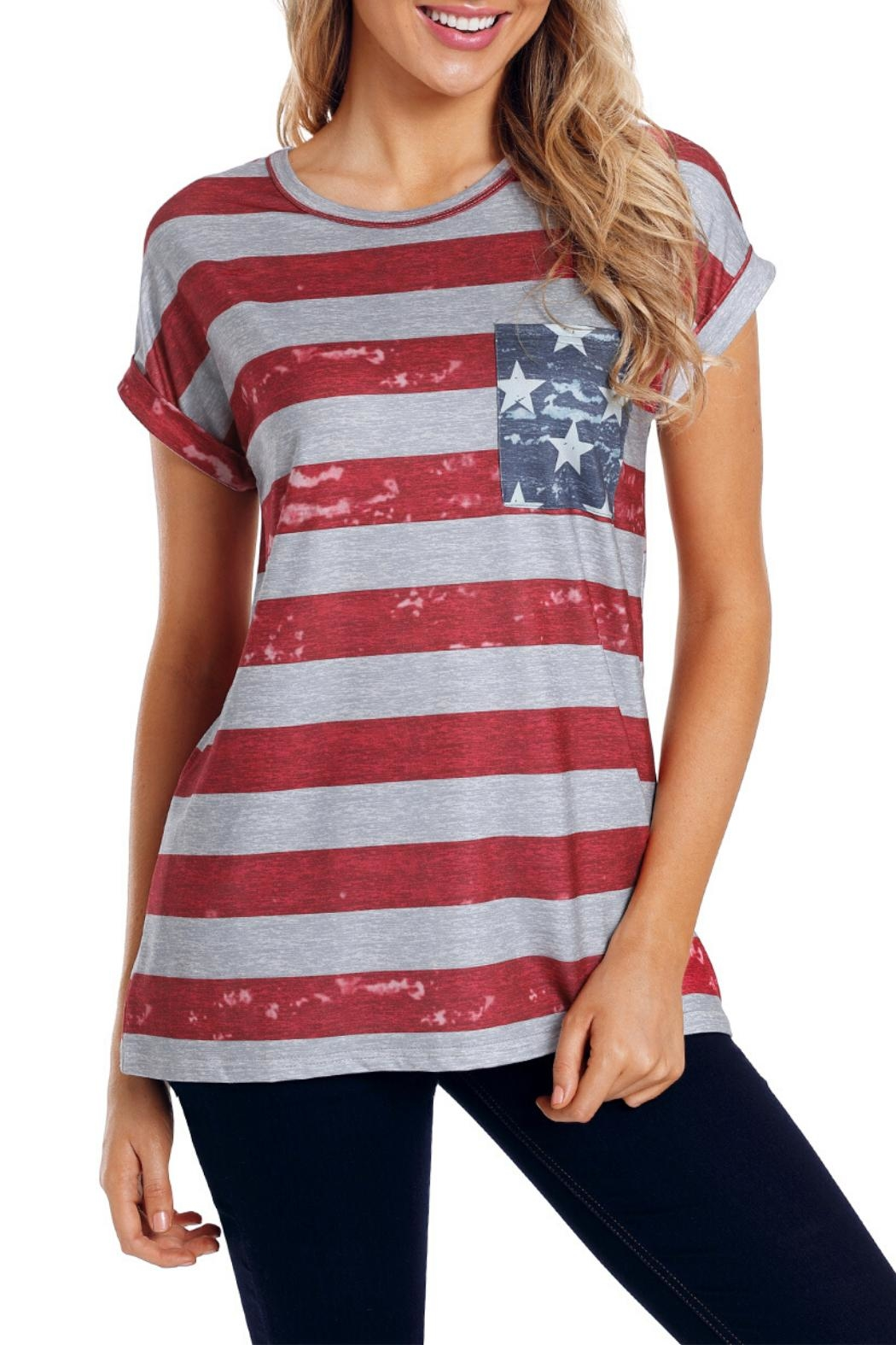 Unbranded American Flag Tee - Front Full Image