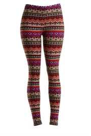 Unbranded Aztec Purple Leggings - Product Mini Image