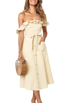 Unbranded Beige Dawn Dress - Product List Image