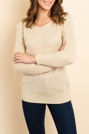 Unbranded Beige Knitted Sweater - Product Mini Image