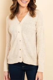 Unbranded Beige Large-Button Cardigan - Product Mini Image