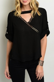Julian Love Black Cutout Top - Front cropped