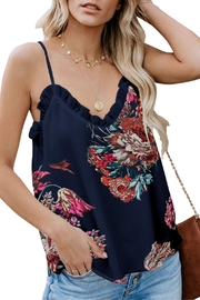 Unbranded Blue Floral Cami - Front cropped