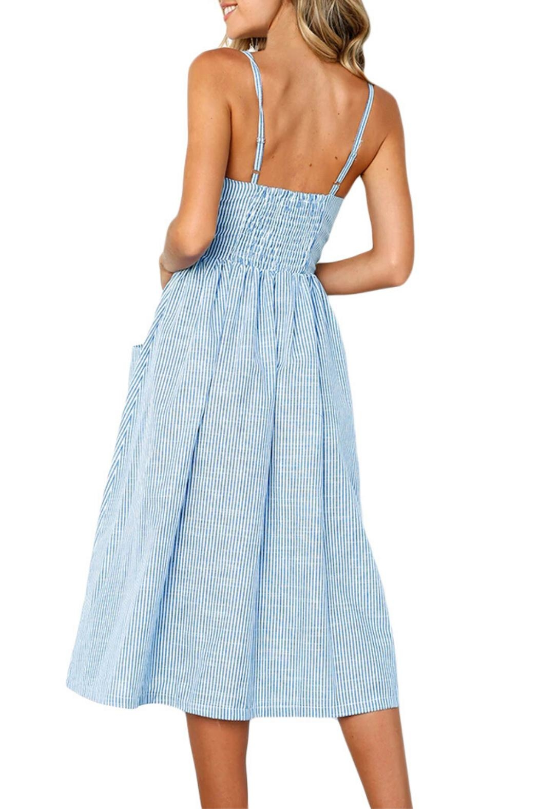 Unbranded Button Down Dress - Side Cropped Image