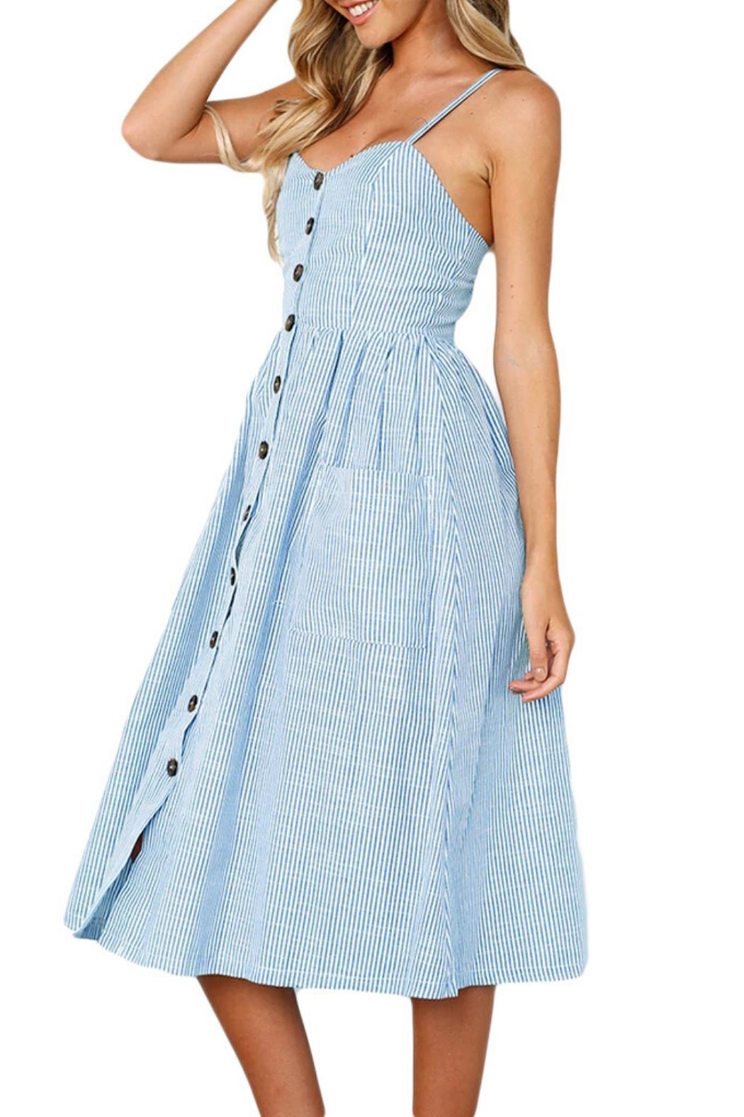 Unbranded Button Down Dress - Front Full Image