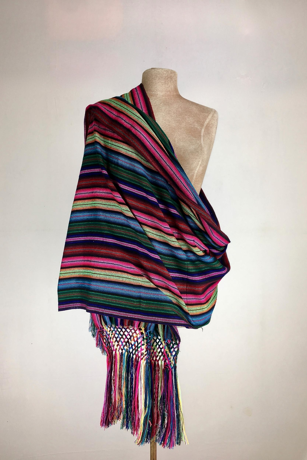 Unbranded Cambaya-Mexican-Textile Handcrafted Rebozo-Shawl - Main Image