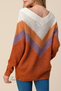 Unbranded Clay Waffle Sweater - Alternate List Image