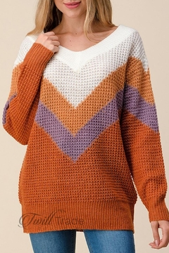 Unbranded Clay Waffle Sweater - Product List Image