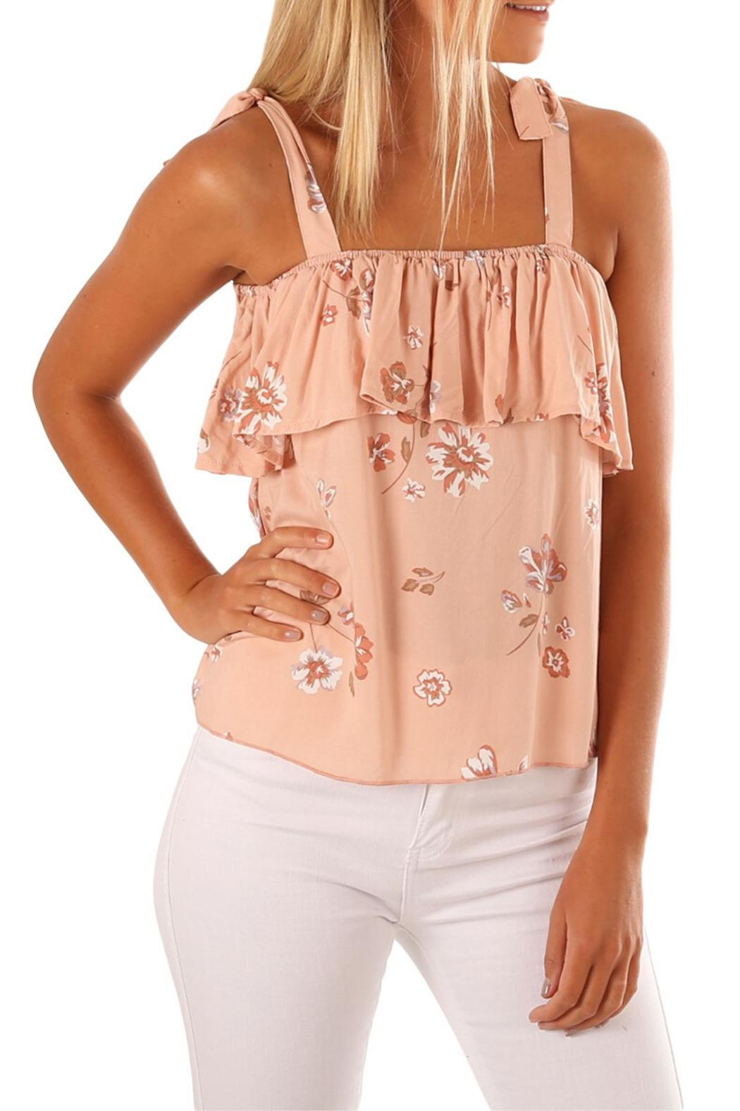 Unbranded Coral Floral Top - Main Image