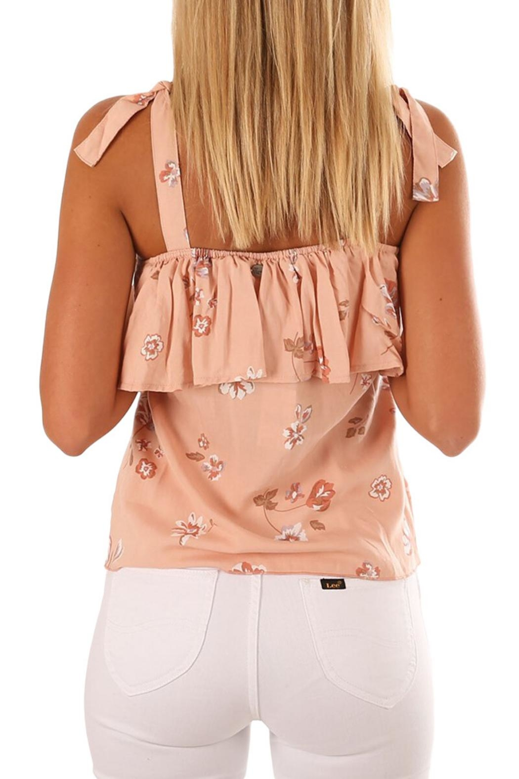 Unbranded Coral Floral Top - Front Full Image
