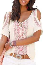 Unbranded Cream Printed Top - Product Mini Image
